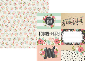 Simple Stories BLOOM Collection 12x12 double sided paper/4x6 elements #10054