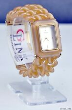 NWT Ladies Watch GUESS Caramel Plastic Chain New U11660L1