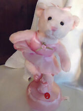 Musical Bear Named Giselle By Russ.Pink Ballerina Plays Classical .Adorable