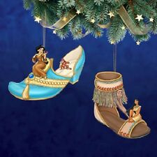 Jasmine & Pocahontas Shoe Figures Issue 11 Disney Once Upon a Slipper Ornament