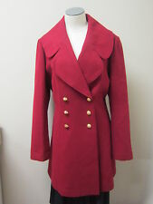 Juicy Couture Double Breasted Lightweight Wool Coat L Red NWOT $345