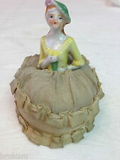 Pincushion Half Doll with Silk Skirt ~ Made in Japan