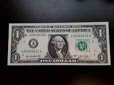 2013 $1 LOW Serial Number Note ~ Crisp Uncirculated