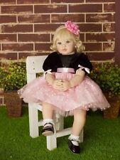 Silicone Reborn Real Toddler Dolls AnneDoll 23inch Girl Lifelike Baby Handmade