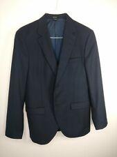 Tiger of Sweden Men Chalkin Suit Double Vent Wool Blazer jacket Size 52 Navy Blu