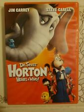 Dr. Seuss Horton Hears a Who (DVD, 2009) Steve Carell Jim Carrey