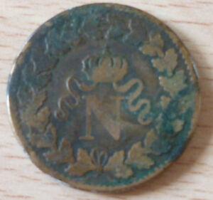 Pièce de Monnaie, ONU Decime 1815 BB, Siège De Strasbourg, Napoléon
