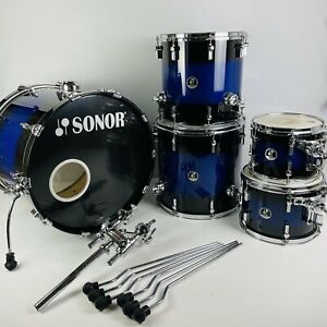 """Sonor 3007 Series Drum Kit   Midnight Fade Maple Shell Set   10"""" 12"""" 14"""" 16"""" 22"""""""