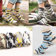 4 Pairs Men's Socks Camouflage Camo Sport Lot Warm Casual Dress Cotton Socks