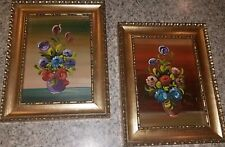 RARE VTG Pair Of DIPINTO SU RAME~OIL ON COPPER Paintings~Artist SIGNED~ITALY!