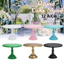 """12"""" Iron Round Cake Stand Pedestal Dessert Holder Cupcake Plates Wedding"""