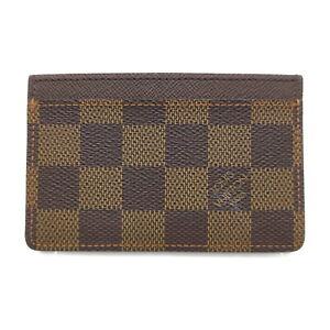 Louis Vuitton LV Card Case Portes Cartes Sanpur N61722 Browns Damier 1521164