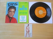 1969 Elvis 45rpm record & Sleeve, In The Ghetto/Any Day Now & Pocket Calendar