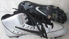 Men's Nike Speedlax IV TD Mid Lacrosse Cleats Chrome/Black 616297-001 SZ 9 EUC