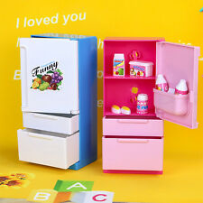 2017 New simulation Refrigerator Furniture For barbie doll  2 color available