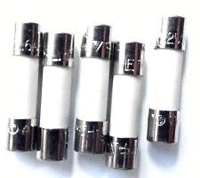 Fuse 1.6a  20mm Ceramic HBC  Anti surge T1.6A H 250v Time Delay    x5pcs