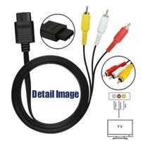 6FT AV Audio Video Cable Cord Wire For SNES Super Nintendo NGC Gamecube N64