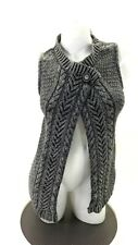 NINE WEST WOMEN'S GREY AND BLACK ONE BUTTON UP SWEATER VEST SIZE M