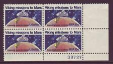 #1759 VIKING MISSION. WHOLESALE LOT OF (20) MINT PLATE BLOCKS. F-VF NH!