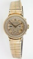 .Vintage Movado Triple Date 14k Gold F.B Borgel Mens Wrist Watch