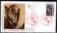 FRANCE FDC - 872 1780 1 CROIX ROUGE COGNAC 1 12 1973