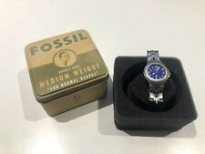 Fossil Blue Watch Stainless Steel 29mm w/ Box