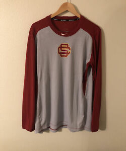 USC Trojans Nike Baseball Team Issued Practice Long Sleeve Size XL