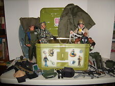 GI Joe 1995-2005 lot - 3 Act Fig, Storage Locker, 50+ parts & Mattel N-Tek Steel