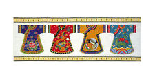 Cross Stitch Kit ~ Design Works Asian Floral Japanese Kimono Row #DW2377