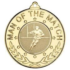 Rugby Awards - Man of the Match Medals - Free Ribbon & Engraving