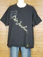 Jumpman Air Jordan Graphic Black Short Sleeve Graphic T-Shirt Mens size 2XL