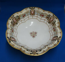 """Antique Hand Painted Nippon 10 1/4"""" Bowl with Logo"""
