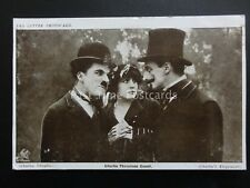Charlie Chaplin CHARLIE THREATENS COUNT Red Letter Photocard c1915
