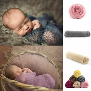 Newborn Baby Crochet Knit Wrap Cocoon Swaddle Photography Photo Posing Props Kid