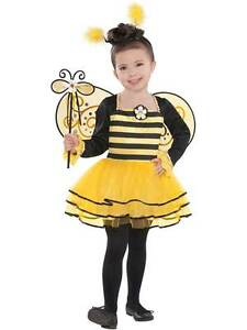 Bumble Bee Ballerina Tutu Costume Fancy Dress Outfit 3-6 Years Wings Child Girls