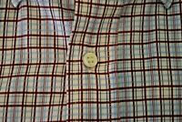 Loro Piana Mens Cotton Blue Red Tattersall Check Made in Italy Shirt XL