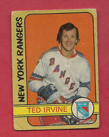 1972-73 OPC # 212 RANGERS TED IRVINE  HIGH #  CARD
