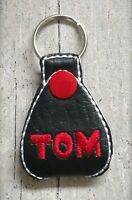 Personalised guitar pick plectrum holder keyring.Music gift.Name or initials.