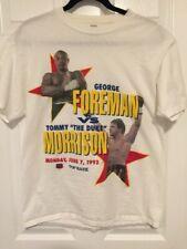1993 Vintage George Foreman vs Tommy Morrison Men T-Shirt Size Large