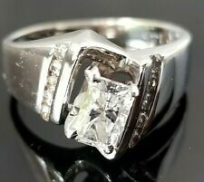 .72TCW Solitaire Radiant Round Diamond Tension 14k white gold band/ring