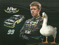 2010 Carl Edwards Aflac Ford Fusion NASCAR postcard