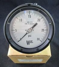 """Weksler Glass Thermometer Corp 4.5"""" Process Gauge 4502-4RC 0-30 PSI AISI 316"""