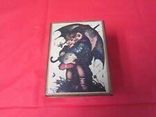 Vintage =Fuji Wood Mini Music Box=Hummel Picture on Lid=Japan=Nr=