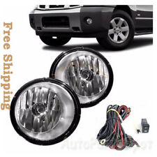 Fog Lights Bumper Lamps Kit OE Clear For Nissan 2004-2007 Armada Titan