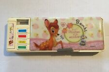 Kawaii Disney Bambi Pencil Case Box W/ Sharpener Calendar Compartments