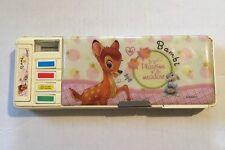 Kawaii Disney Bambi Pencil Case Box W/ Sharpener Calendar Compartments