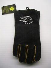 new BLACK STALLION Men's Size L Side Split Black/Yellow Cowhide Welding Gloves