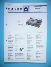Service Manual-Anleitung für Telefunken TS 850 ,ORIGINAL