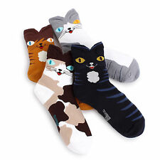 Cats Printed Socks (4-Pack) Tabby Persian Russian Blue eyes Kitten Kitty  BC