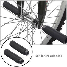 1Pair MTB BMX Bike Foot Stunt Pegs Footrest  Lever Cylinder Grip 3/8'' Axle